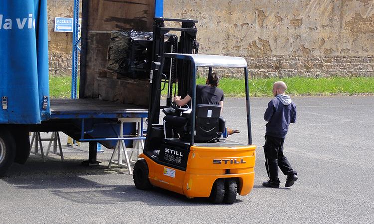 Formation conducteur d 39 engin et formation s curit au - Chariot automoteur a conducteur porte ...